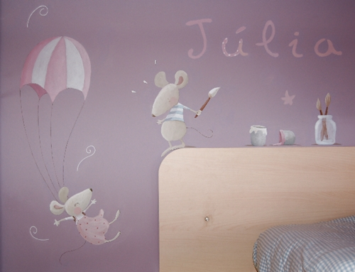 Murales infantiles que cuentan historias decopeques for Murales habitacion bebe