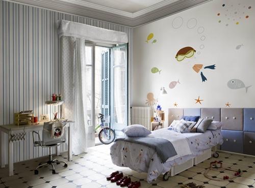 Papel pintado y murales para ni os de coordonne decopeques - Habitaciones infantiles marineras ...