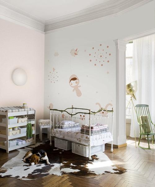 Papel pintado y murales para ni os de coordonne decopeques - Papel pintado para habitacion nina ...