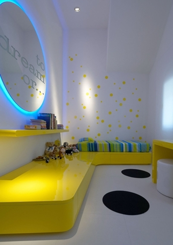 Una moderna habitacion infantil de diseño