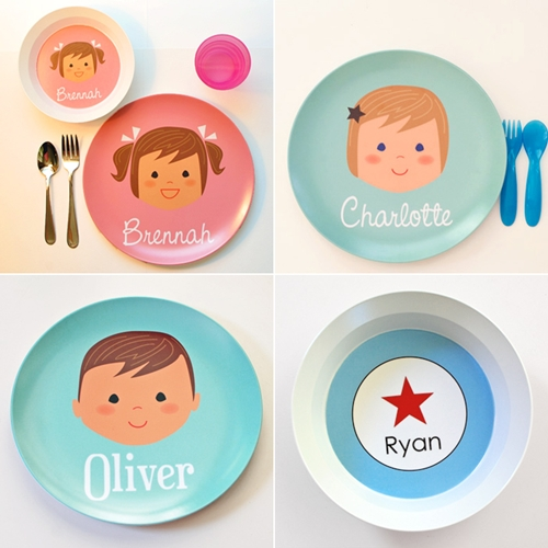 Platos y bowls para niños personalizados