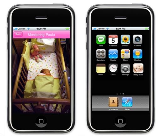 Vigila bebés para el iphone
