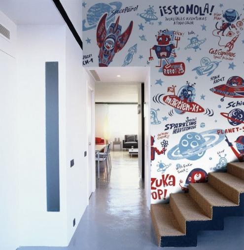 Murales en gran formato para habitaciones juveniles for Paredes de habitaciones juveniles