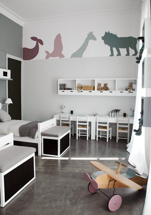 Dormitorio infantil en tonos neutros