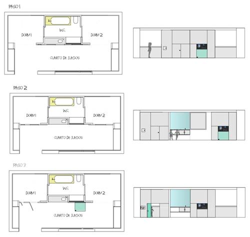 Habitaci n infantil convertible y polivalente decopeques for Mueble que se convierte en mesa