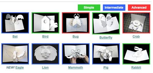 Manualidades infantiles- Tarjetas de Navidad en 3D