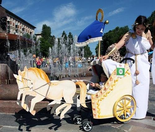 Disfraces caseros para bebés con carrito