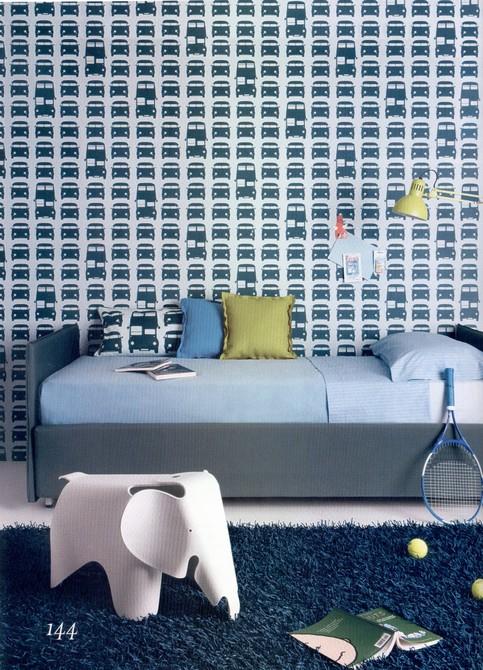 Habitaciones juveniles con papeles pintados decopeques - Papeles pintados de pared ...