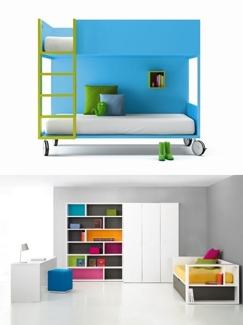 Muebles infantiles y juveniles a tope de color decopeques for Pegatinas infantiles para muebles