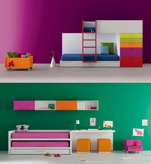 Muebles infantiles y juveniles a tope de color decopeques for Muebles infantiles modernos