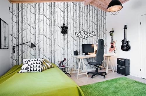 """Ambientes que inspiran: Habitación juvenil """"green"""""""