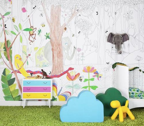 Papeles pintados infantiles decopeques for Papeles pintados paisajes