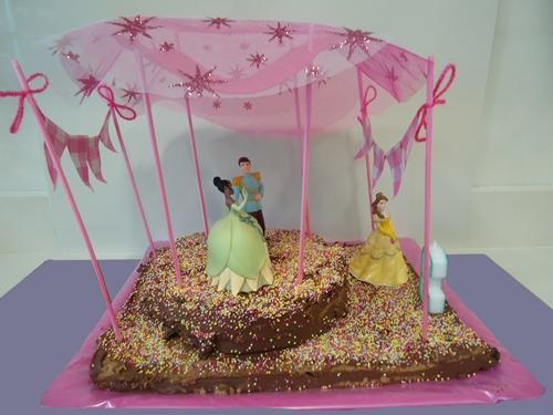 Una tarta ideal para una fiesta infantil de Princesas