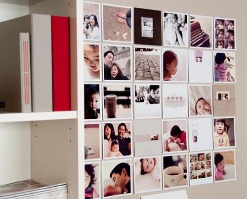 Decorando la pared con fotos