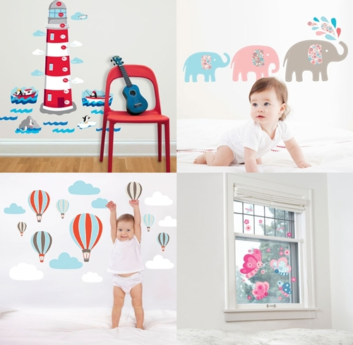Ideas creativas de decoraci n infantil con pegatinas for Pegatinas habitacion infantil