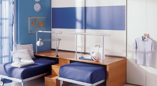 Habitaci n para tres qui n dijo que no hab a espacio for Dormitorio juvenil tres camas