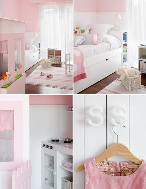 Dormitorios para ni as en rosa for Frases para cuartos de ninas