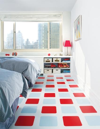 Suelos con color en el dormitorio infantil