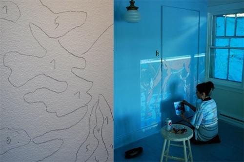 Como hacer un mural infantil - Pintar mural en pared ...