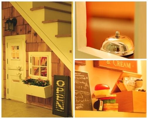 Clic clac foto … Un restaurante debajo de la escalera.