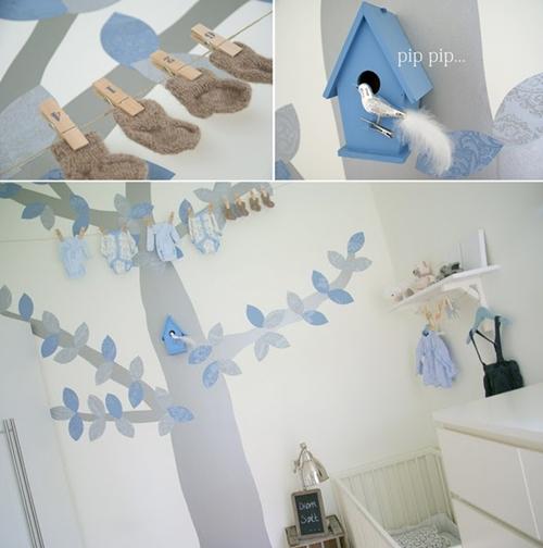 Arboles pintados en la habitaci n infantil for Vinilos para habitaciones de ninos