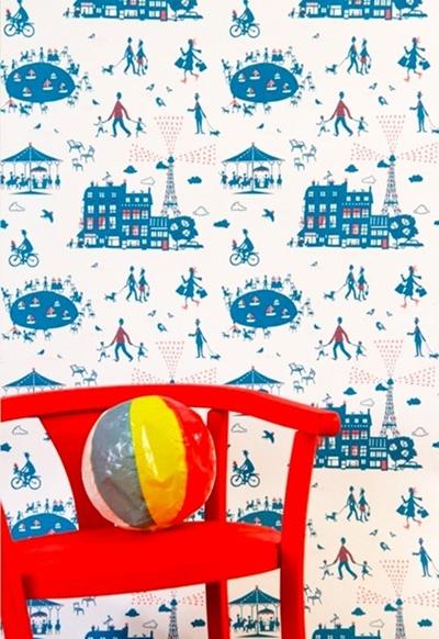 Papeles pintados infantiles con todo el encanto de París.