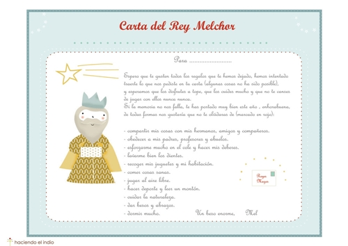 Cartas de los Reyes Magos para descargar