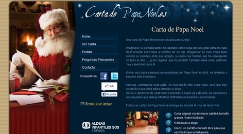 Carta personalizada de Papa Noel y de los Reyes Magos.