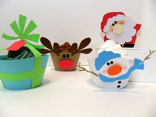 Moldes de cupcakes para navidad decopeques - Decoracion navidad infantil manualidades ...