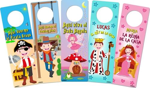 Colgadores infantiles para puerta personalizados - Carteles para puertas habitaciones ...