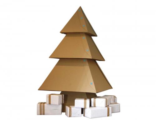 Haz tu propio Árbol de Navidad con cartón y un toque de Makedo