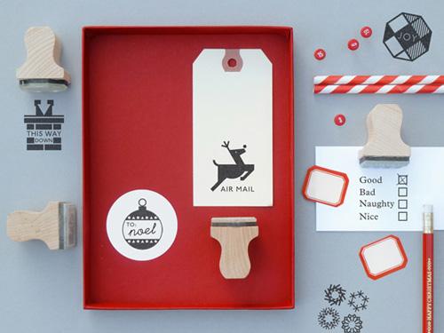 Decora tus postales y documentos con estos sellos navideños.