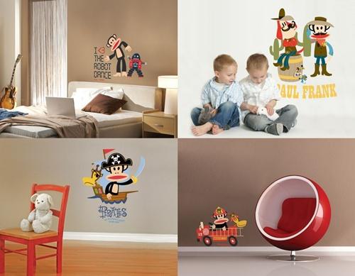 Stickers y pegatinas infantiles de paul frank decopeques for Pegatinas decorativas infantiles