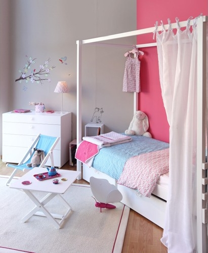 Dormitorios para ni as en rosa decopeques for Dormitorios para ninas adolescentes