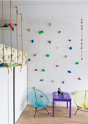Rocódromo en la habitación de los niños