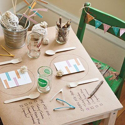 Una mesa muy entretenida para los niños