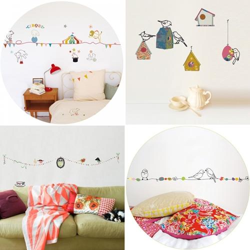 Stickers infantiles novedades en mimi lou decopeques - Stickers decorativos para dormitorios ...