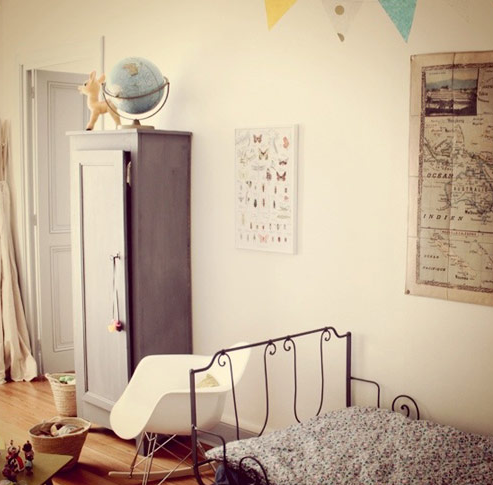 Dormitorio Infantil vintage y moderno