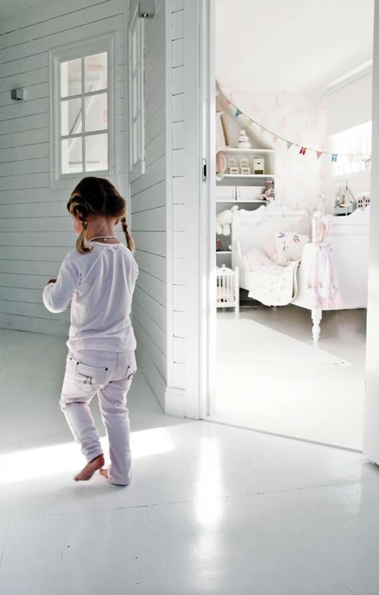 Dormitorio de niña romántico y especial