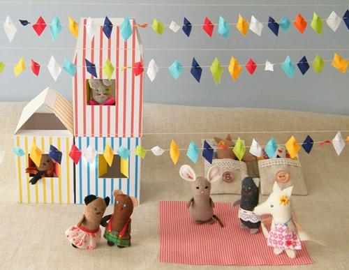 Una fiesta infantil de muñecos
