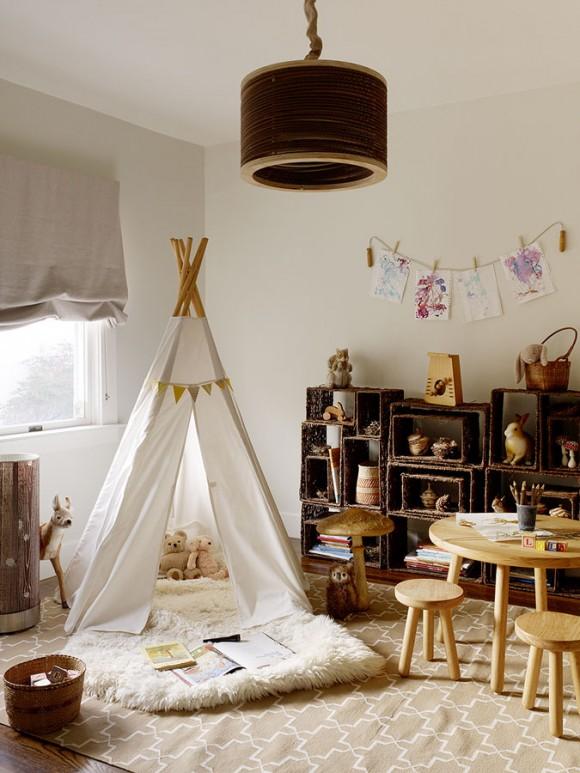 Ambientes que inspiran… Un tipi en la habitación infantil