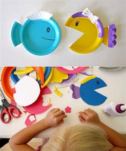 Manualidades con ni os peces de colores decopeques - Manualidades con bebes ...