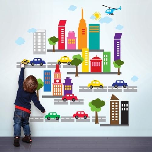 Vinilos infantiles french bull for Pegatinas para decorar habitaciones infantiles