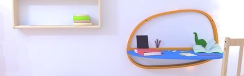escritorio de pared para nios