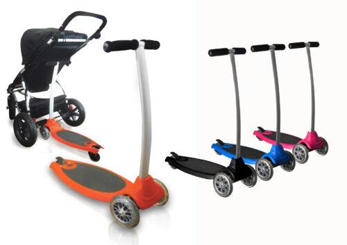 Plataforma de cochecito convertible en patinete decopeques - Patinete silla paseo ...