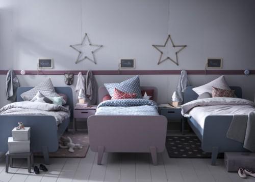 Dormitorio infantil para 3 hermanos - Habitacion 3 ninos ...