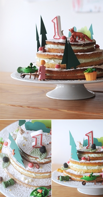 Una tarta diferente y bonita