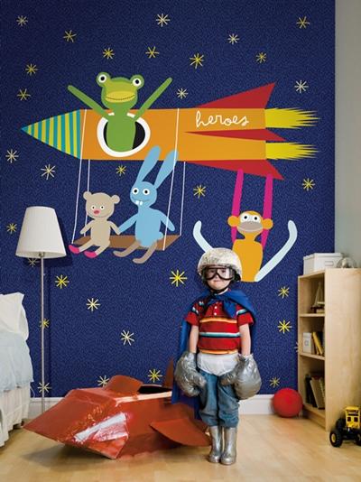 Murales infantiles y papeles pintados de Coordonne