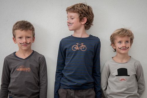 Los bigotes, una tendencia de moda infantil que arrasa