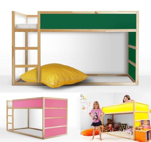 Personalizar los muebles de ikea con panyl decopeques - Ikea habitaciones infantiles literas ...